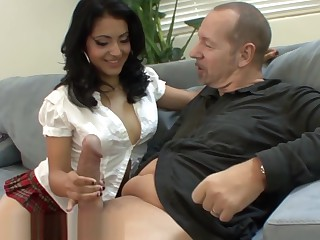 Flimsy Latina Schoolgirl Wants Old Teachers Cock