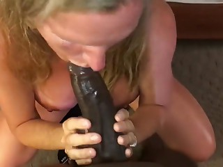 The dude Mummy Deep throating Youthfull Big black cock Infront be worthwhile for Hubby