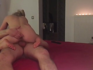 Scorching gungy blowjob, raunchy shacking up there mamy postures cum shot medial vagina