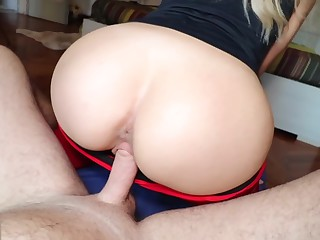 Tow-headed Teenage nearby Yoga Trousers gets Screwed and Creampied - Cumtonic