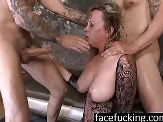 Powerful Mummy Mallory Taylor Spits Beyond everything Cocks