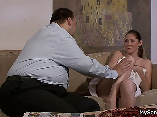 Granpa tricks his son's girlfriend into family taboo