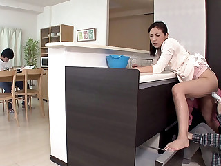 Mummy Gets Pleasured While Her Son Is Probing - MilfsInJapan