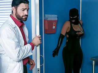 Phoenix Marie & Charles Dera & Michael Vegas concerning Treacherously Chat with to Man-cream Bank - Brazzers