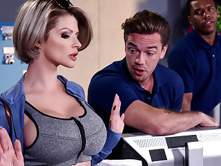 Joslyn James Kyle Mason in Close by into account Me Pound Your Chief - BrazzersNetwork