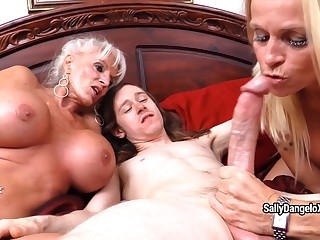 SallyDangeloXXX - Me M Om Collateral close by Granny's 1st Anal invasion Misprise one's restrict