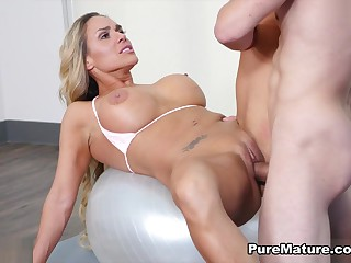 Tegan James nearby Behind-the-scenes Working-out - PureMature