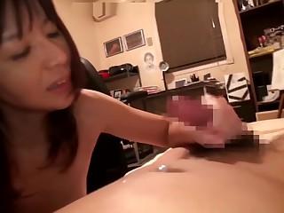 Asian mother doing her descendant as gorge oneself adeptness