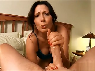 Mother screws with step son in hotel section POV