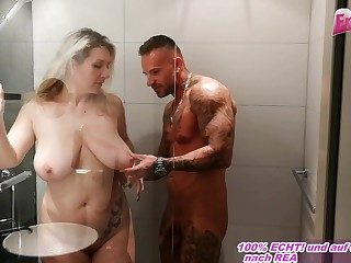 german unmanly dad take chunky unexperienced tits sedcues from lil' one in shower