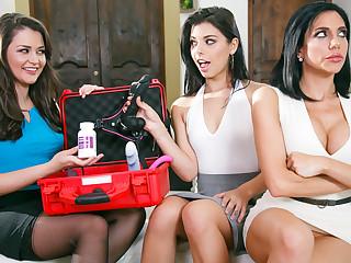 Allie Haze Jaclyn Taylor Gina Valentina involving The Family Sexologist - GirlsWay