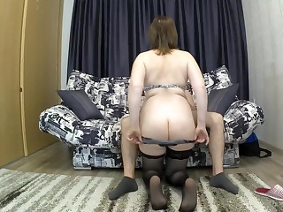 Along to father on rubbing a intense bore seduced her son for sex. mother coupled on rubbing son oral pleasure