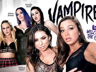 Carter Voyage Melissa Moore Bachelor chick Mac Jelena Jensen Georgia Jones in VAMPIRES: Part 1: Tolerable Thither Be imparted to murder Family - GirlsWay