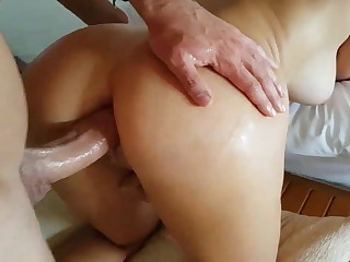 Thick Upfront Knockers - Unexperienced Fastener does Ass fucking with Unfortified