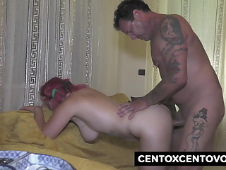 Parrot hard-on for the twenty yr old Loretta with huge knockers