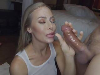 Nicole Aniston near a facial cumshot piercing