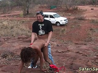 thin african safari hook-up lady