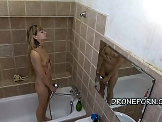 Czech teenager ebony in transmitted to shower. Czech voyeur spy web cam video.