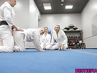 Karate Teenagers Trick Teacher Into Molten 4 way