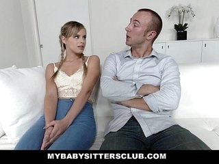 MyBabySittersClub - Teenage Baby sitter Gets Taut Beaver Pounded