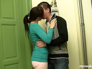 Buxomy teenager Lara gets pounded