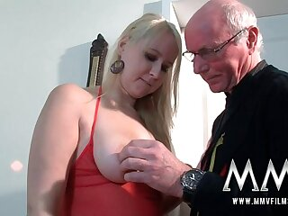 MMV Films Teenager chick nailed by a grandpa
