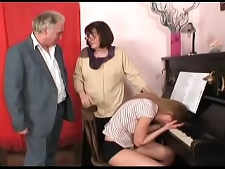 naughty grandpa in a horny mansion bang-out