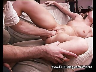 Two Whole Fist Approximately A Single Teen Tight Pussy