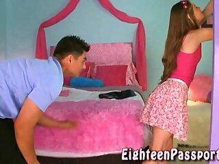 Deep-throaters teenage getting her undies moist