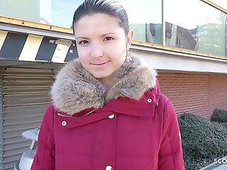 GERMAN SCOUT - Teenage Gina bei Strassen Audition AO gefickt