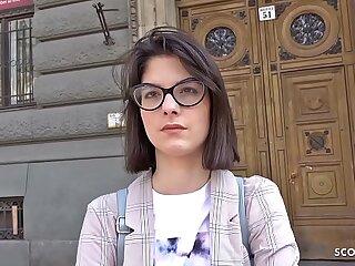 GERMAN SCOUT - Legal Jahre junge Studentin Sara AO Ass fucking gefickt bei echten Audition nach der Uni