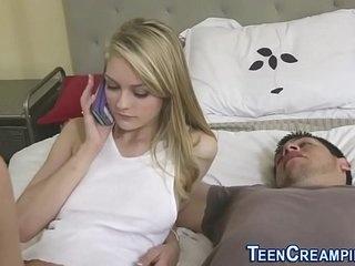 Teenage nailed and creampied