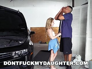 18yo Teenager Lilly Ford Nails Daddy's Mechanic Pal (dfmd15754)