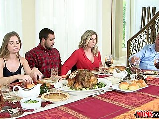Moms Smash Teenage - Wild Family Thanksgiving