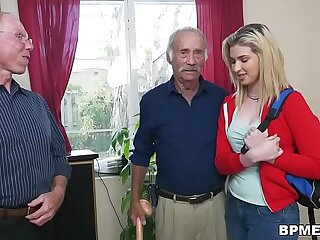 Braces teenager Stacie nails aged guy