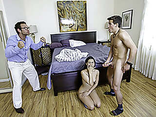 FamilyStrokes - Puny Boobs Latina Stepsister Deepthroats And Pounds Her Stepbro