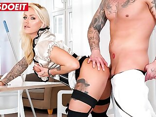 LETSDOEIT - Office Bussiness Woman Fit Hardcore Sandy Covet For Janitor's Shaft