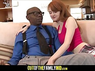 Warm Crimson Hair Youthfull Stepdaughter Abby Rains Bitchy By Dark-hued Stepparent