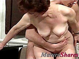Fuckslut Granny Takes Youthful Manstick
