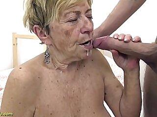 60 yr old granny deepthroats cock