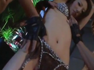 Koyuki Hara horny Asian honey gives extraordinaire dual deep throat