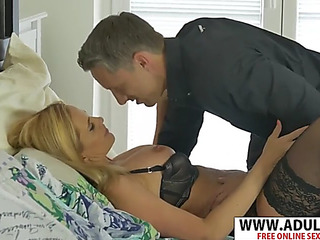 Hawt new mother lili peterson tempts cute massaging dad's ally