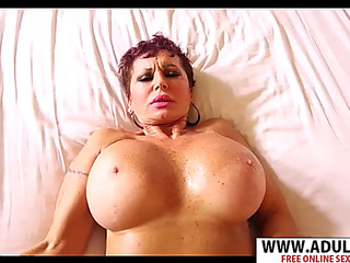 Euro mamma melina take sausage well her son's ally