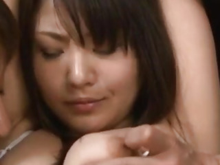Kanna Harumi with jism on gullet is pounded in wooly beaver like ultra-kinky
