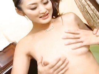 Risa Murakami gets instruments to eat and uses massager before pound