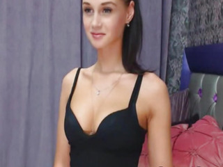 Stunning Diminutive Girl Having Display on Webcam