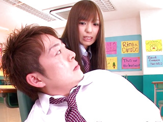 Nippon eighteen age teenage schoolgirl facialized in class