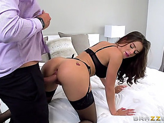 Lana rhoades in scorching nylons acquires doggystyled by keiran lee