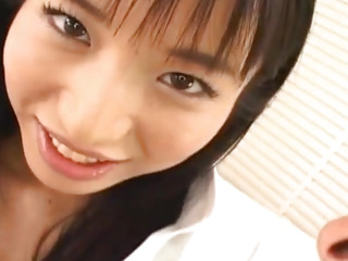 Momo Junna gets fingers, tongue and phallus in furry string up cage