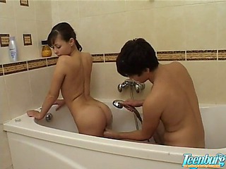 Japanese eighteen age teenage nailed in baths